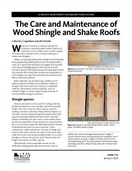 Care and Maintenance of Wood Shingle and Shake Roofs publication