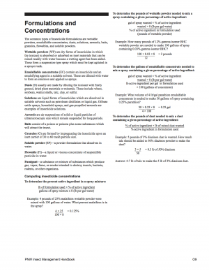Formulations and Concentrations cover image